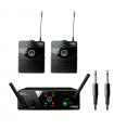 AKG WMS 40 Mini Instrument DUAL - Sistema inalámbrico UHF Para instrumento